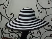 Philip Treacy black and white stripe