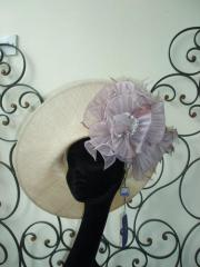 Philip Treacy natural colour side sweep