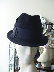 Philip Treacy navy trilby