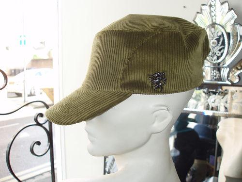 Philip Treacy olive cord cap