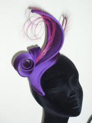 Purple silk swirl sculpt