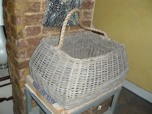 Rectangle curved wicker basket