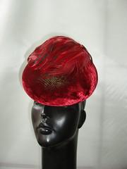 Red velvet bun hat