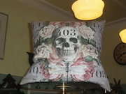 Skull print cushions