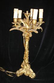 1920's solid brass table lamp.