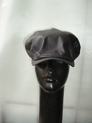 black cotton baker boy cap