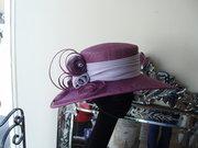 damson synamay straw hat