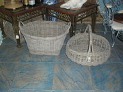 grey wash wicker baskets