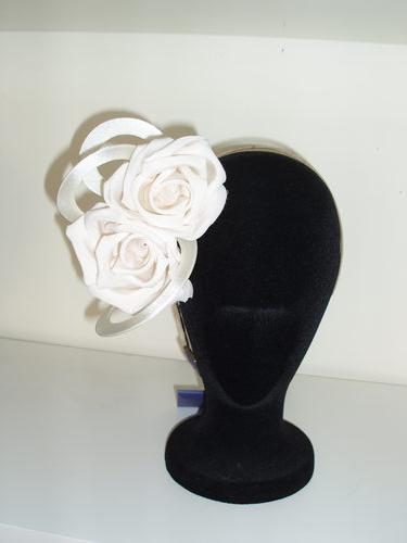Ivory Flower And Fabric Twirl