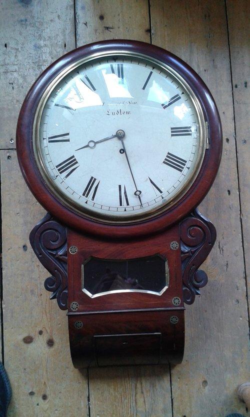 late 1800's English drop dial clock