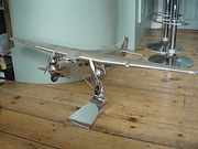 metal model Ford Trimotor aeroplane