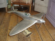 metal spitfire model aeroplane
