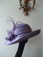 mother of the bride lilac silk slub hat