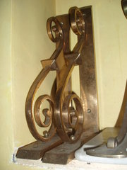 pair of bronze brackets