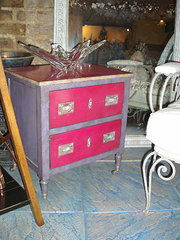 pink and lilac 2 drawer chest