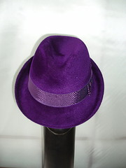 purple velour trilby