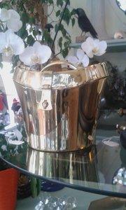 small brass hatbox