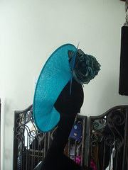 turquoise side sweep upturn hat