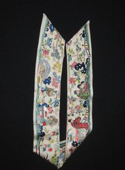 Antique Chinese Silk Embroidered Sleeve Band
