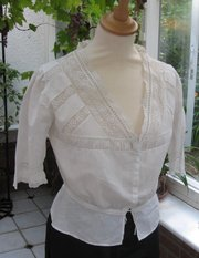 Antique Edwardian Lady's Cotton Blouse,