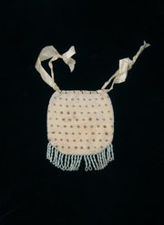 Antique Reticule or Bag, early 19th C, beaded