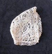 Antique Victorian Baby's Bonnet Bedford Lace
