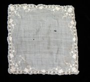 Antique Victorian Embroidered Handkerchief