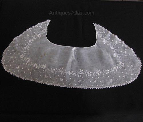 Antique Whitework Embroidered Collar, c 1800