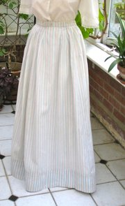 Late Victorian Young Lady's Summer Skirt