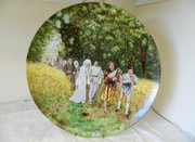 19th Century French Wedding Plate Montereau