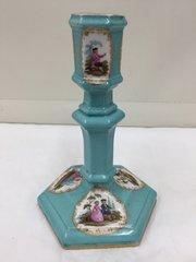 Antique Berlin Porcelain Candlestick circa 1850