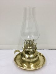 Antique Brass Chamber Oil Lamp