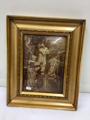 Antique Christolian Glass Picture