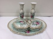 Antique Continental Porcelain Trinket Set