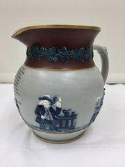 Antique Copeland Pottery Harvest Ale Jug