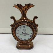 Antique Copper Lustre Clock Vase circa 1850