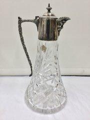 Antique Cut Glass Claret Jug circa 1910