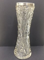 Antique Cut Glass Speciman Vase circa 1919
