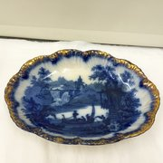 Antique Flo Blue Dish circa 1850
