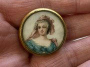 Antique French Porcelain Jewellery Pendant