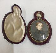 Antique Georgian Miniature Portrait Gentleman