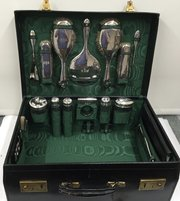 Antique Grooming Case with Chester Silver fittings
