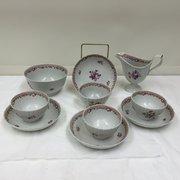 Antique Keeling Porcelain Tea Set circa 1805