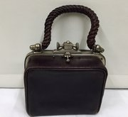Antique Leather Fitted Vanity Case Portmanteau