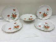 Antique Limoge Porcelain Dessert Set