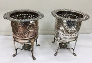 Antique Pair of Sheffield Plated Wine Coolers