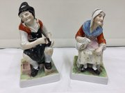 Antique Pr Staffordshire Figurines Cobbler & Wife
