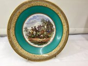 Antique Prattware Pottery Plate