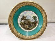 Antique Prattware Pottery Plate