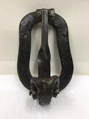 Antique Rams Cast Metal Head Door Knocker